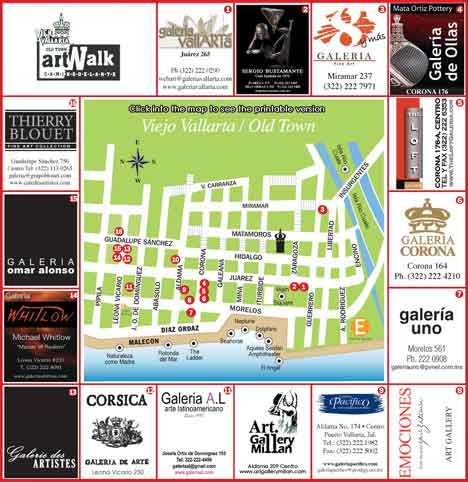 Puerto Vallarta Art Walk Map 2009