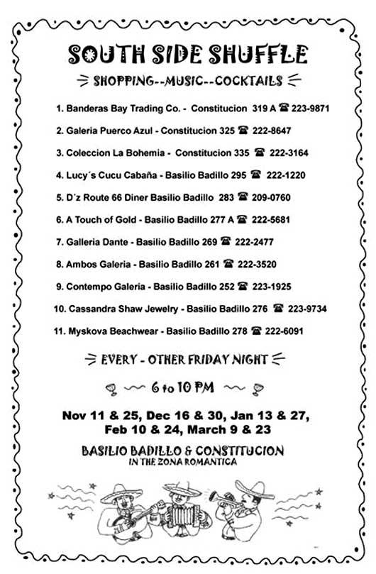 Vallarta Southside Shuffle calendar