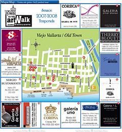 Puerto Vallarta Art Walk Map