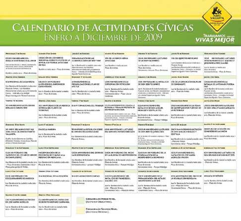 2009 Puerto Vallarta Calendar