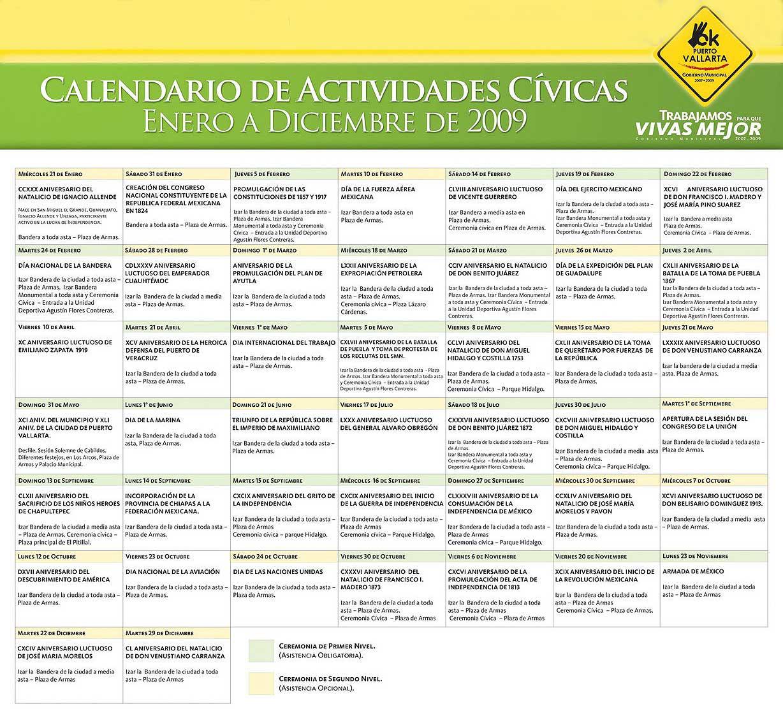 2009 Vallarta calendar