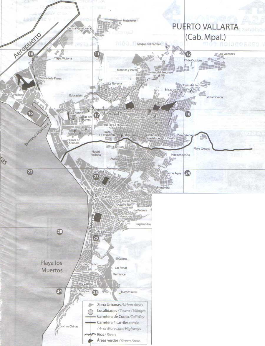 Colonia Map of Puerto Vallarta