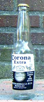 Empty Corona Beer Bottle