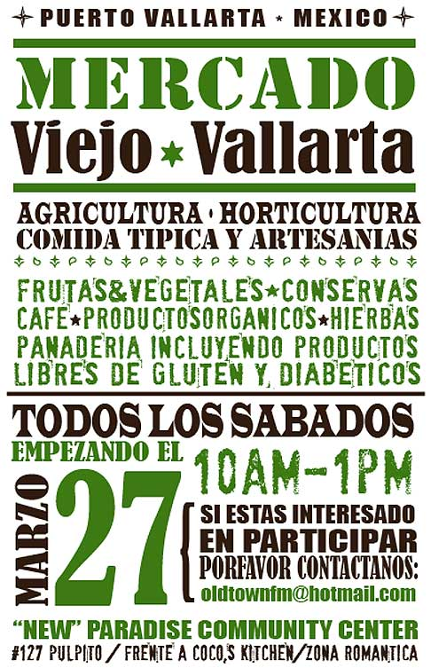 Vallarta Old Town Farmers' Market » Saturdays 10 am to 1 pm