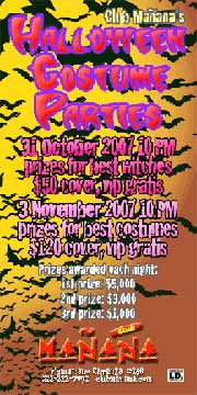 Halloween Parties at Club Manana