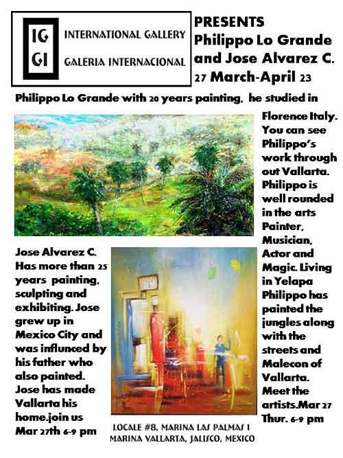 Philippo Lo Grande & José Alvarez at IGGI » March 27 to April 23