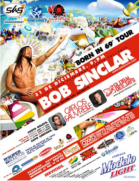 "Bob Sinclair ""Born in 69"" Tour » Puerto Vallarta New Years Eve"
